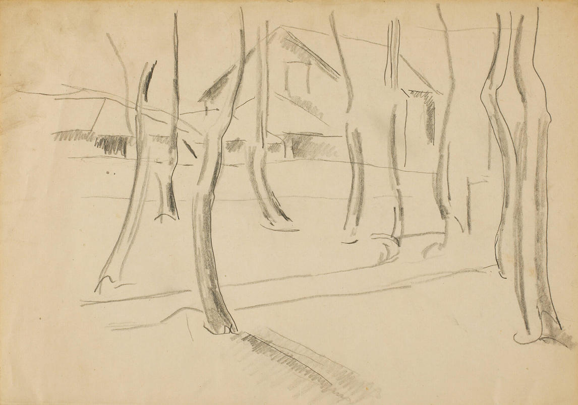 "Art Canada Institute, Lionel LeMoine Fitzgerald, Sketch for ""Doc Snyder's House"" No. 1, c. 1928"
