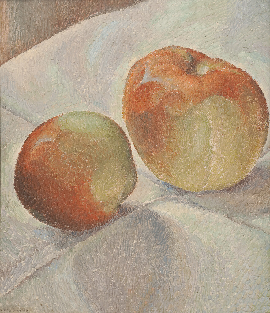 Art Canada Institute, Lionel LeMoine Fitzgerald, Still Life: Two Apples, c. 1940