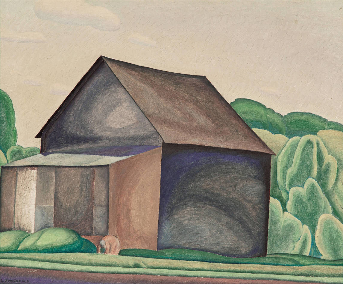 Art Canada Institute, Lionel LeMoine Fitzgerald, The Barn, c. 1930