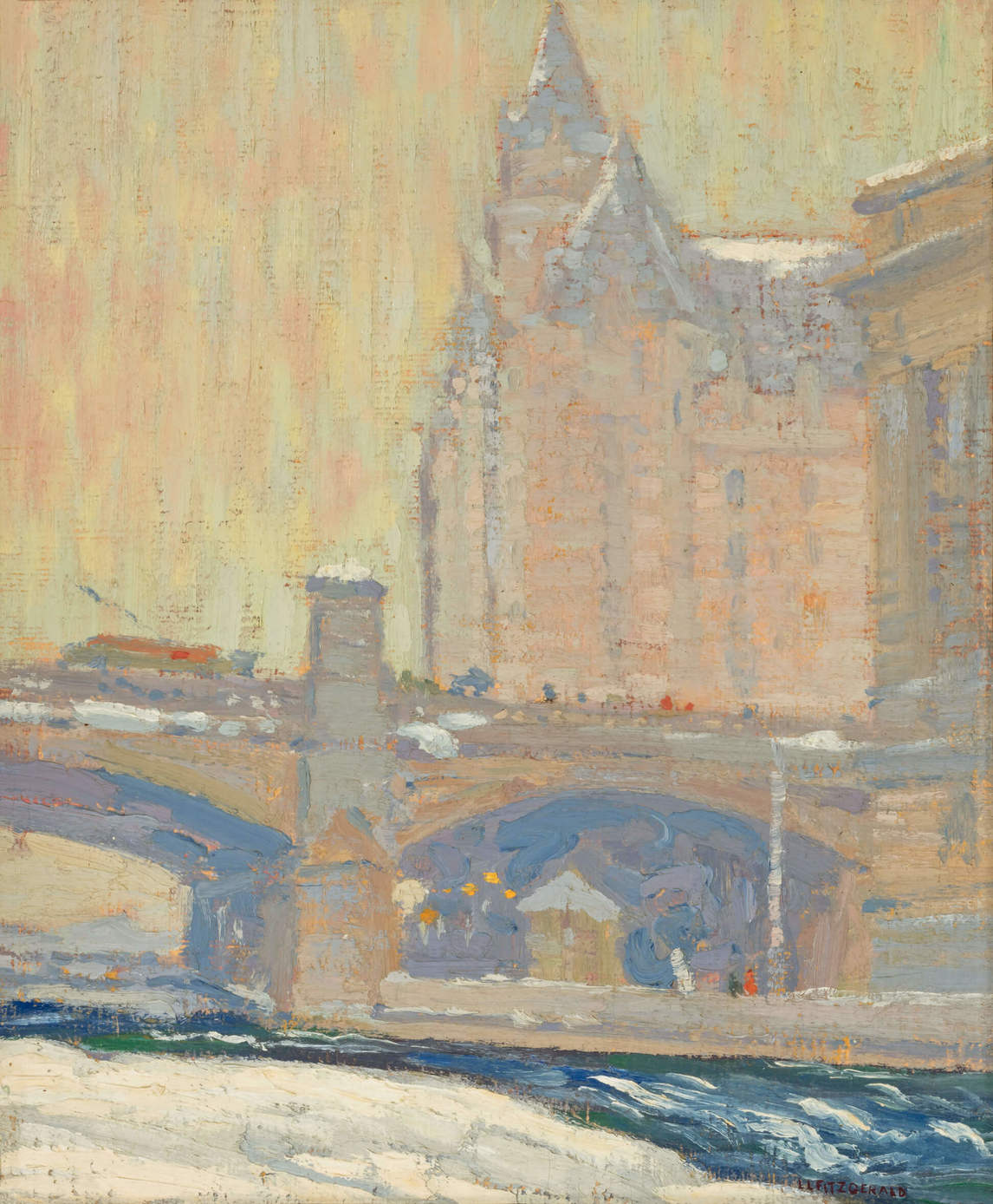 Art Canada Institute, Lionel LeMoine Fitzgerald, View of the Château Laurier, c. 1921