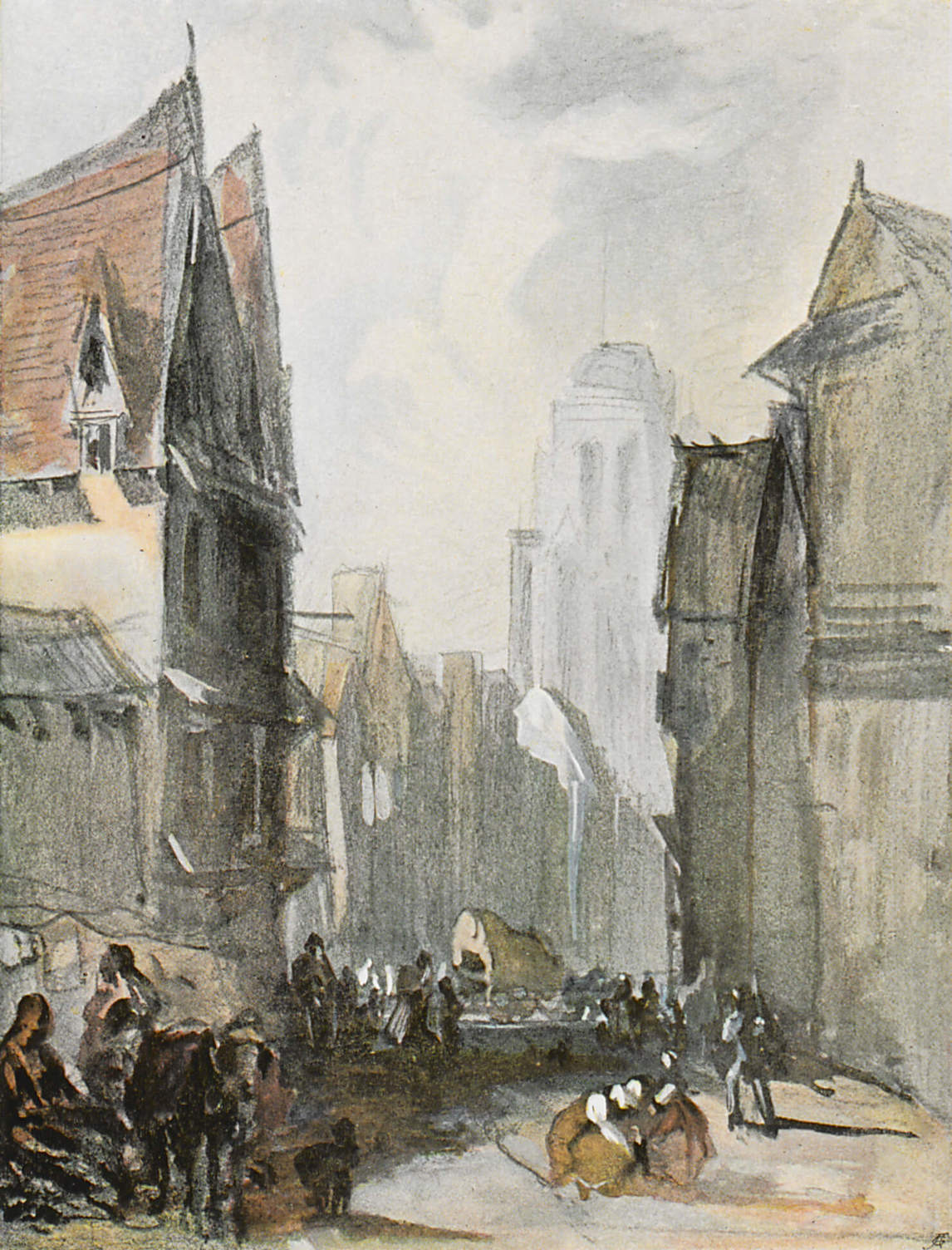 Art Canada Institute, Richard Parkes Bonington, A Street in Rouen