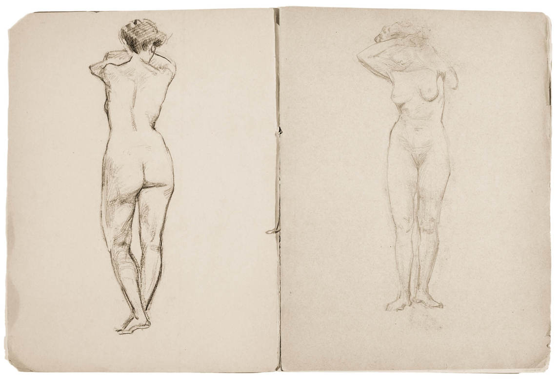 Sketch of Female Nudes from Dessin [sic] Sketchbook, c. 1902, Helen McNicoll