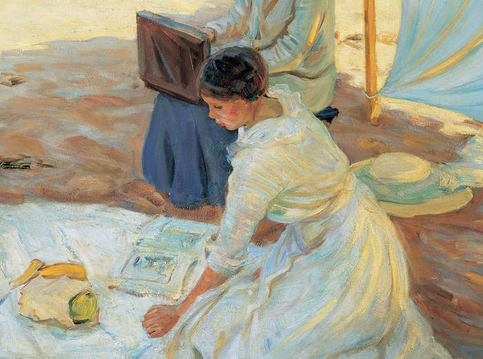 Helen McNicoll, Under the Shadow of the Tent, 1914