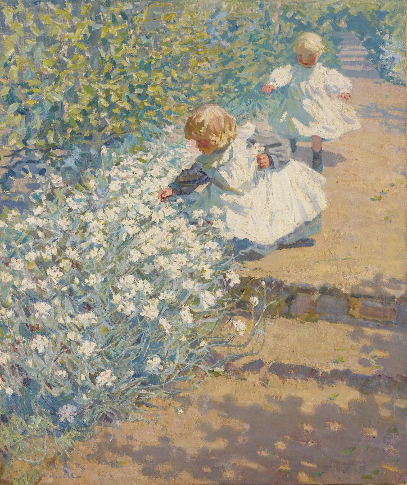 Helen McNicoll, Picking Flowers, c. 1912