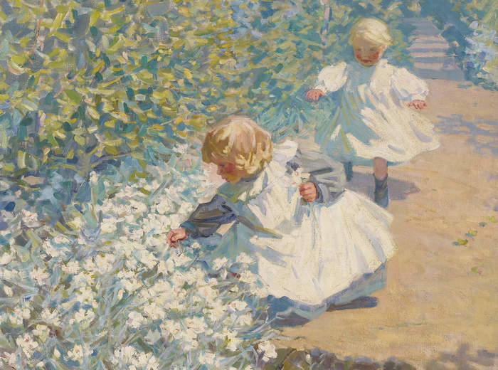 Helen McNicoll, Picking Flowers, c. 1912
