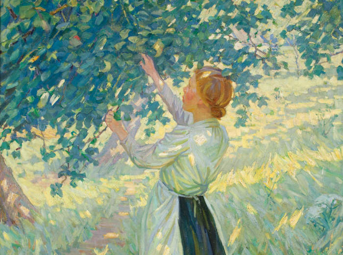 Helen McNicoll, The Apple Gatherer, c. 1911