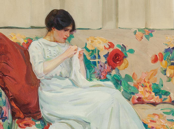 Helen McNicoll, The Chintz Sofa, c. 1913