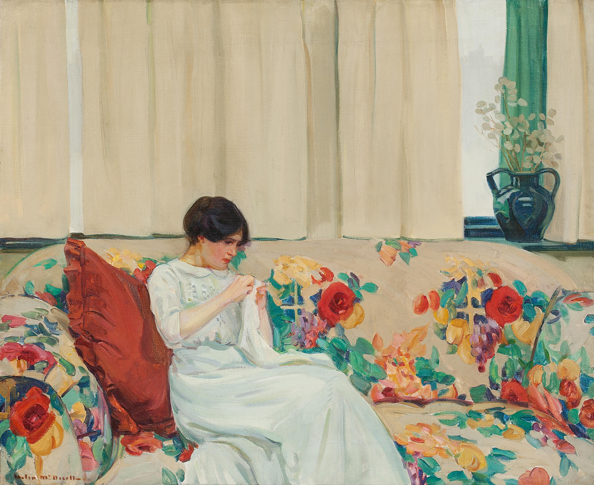 Helen McNicoll, The Chintz Sofa, c. 1913