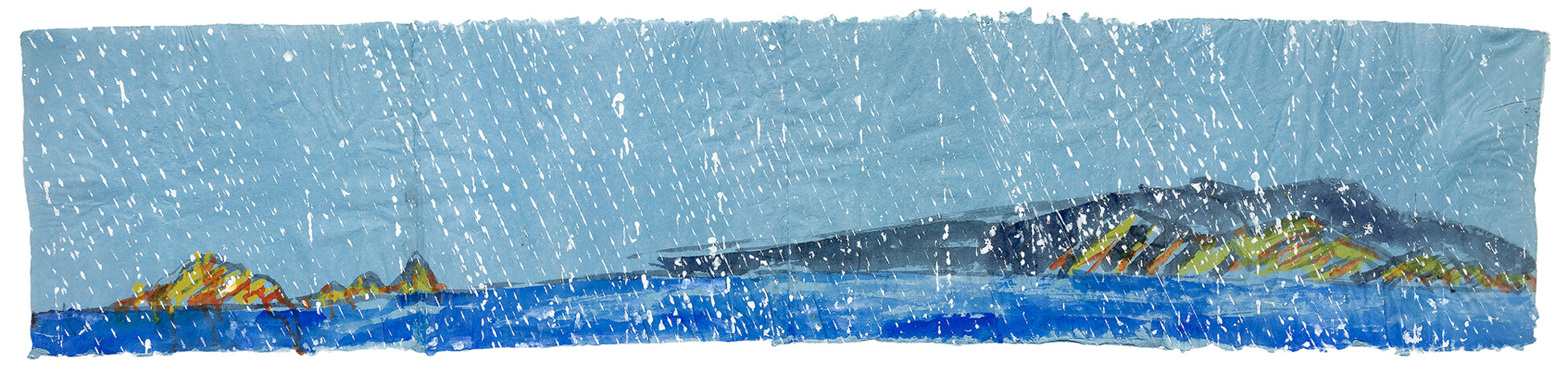 Paterson Ewen, Coastline with Precipitation, 1975