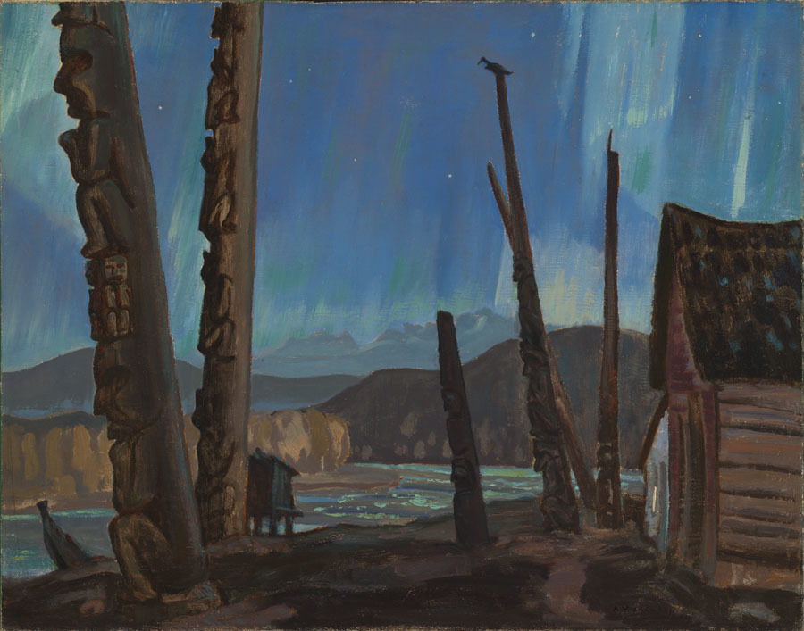 Art Canada Institute, A.Y. Jackson, Night on the Skeena River, 1926
