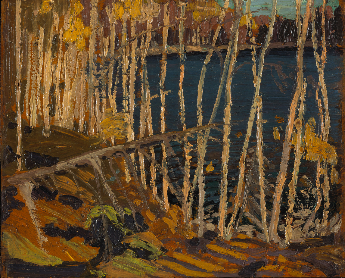 "Art Canada Institute, Tom Thomson, Blue Lake: Sketch for ""In the Northland,"" 1915"
