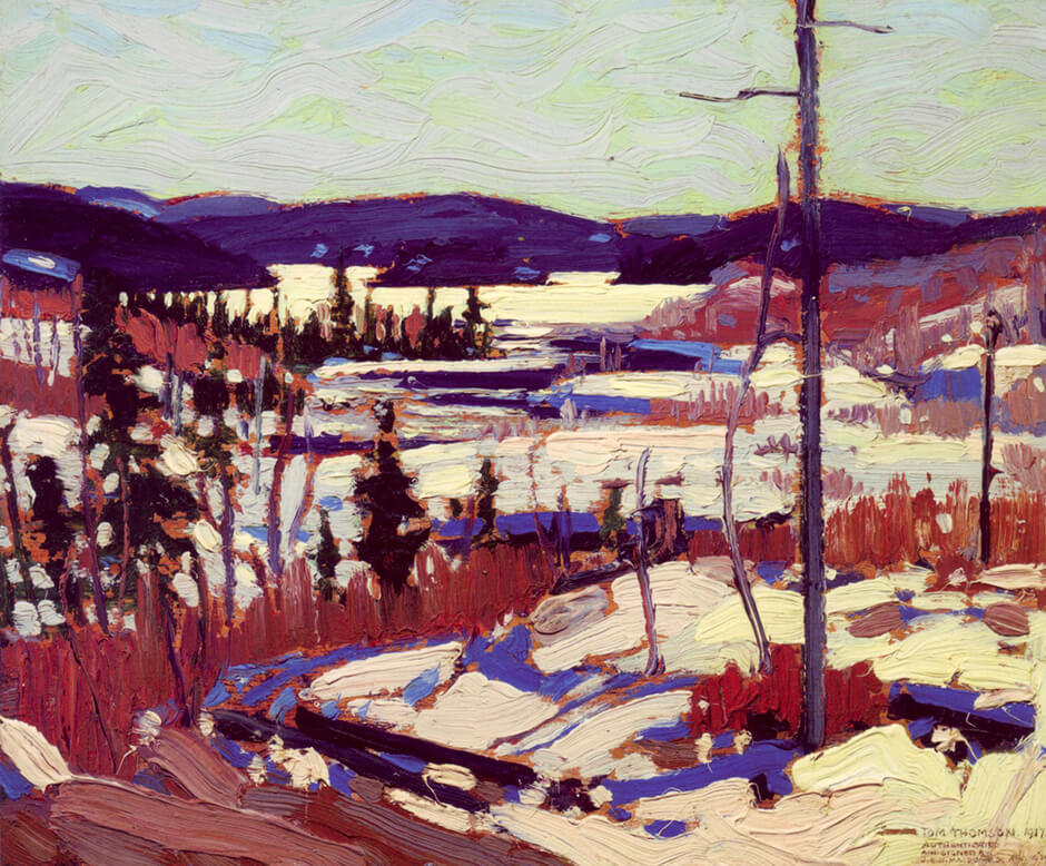 Art Canada Institute, Tom Thomson, Early Spring, Canoe Lake, 1917