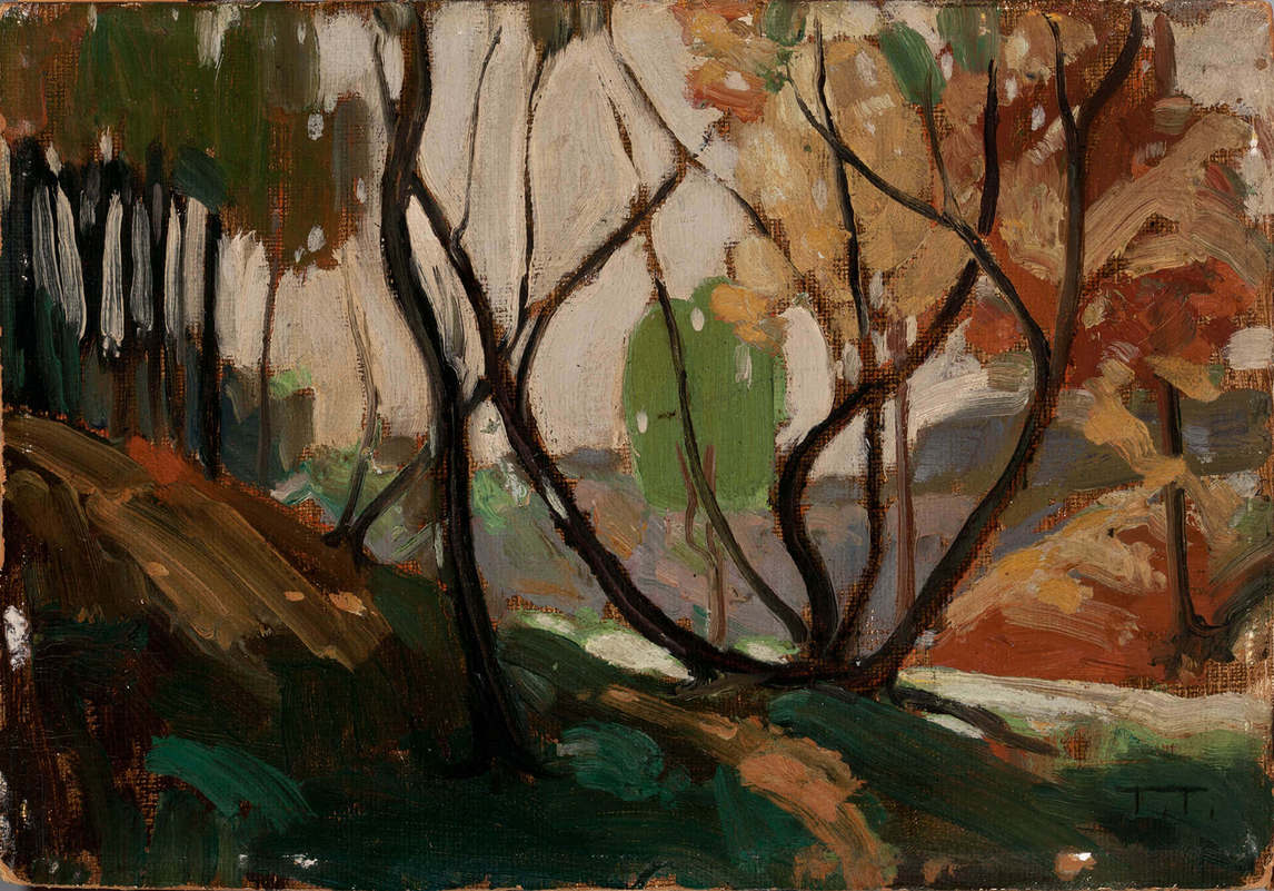"Art Canada Institute, Tom Thomson, Sketch for ""Opulent October,"" 1915"