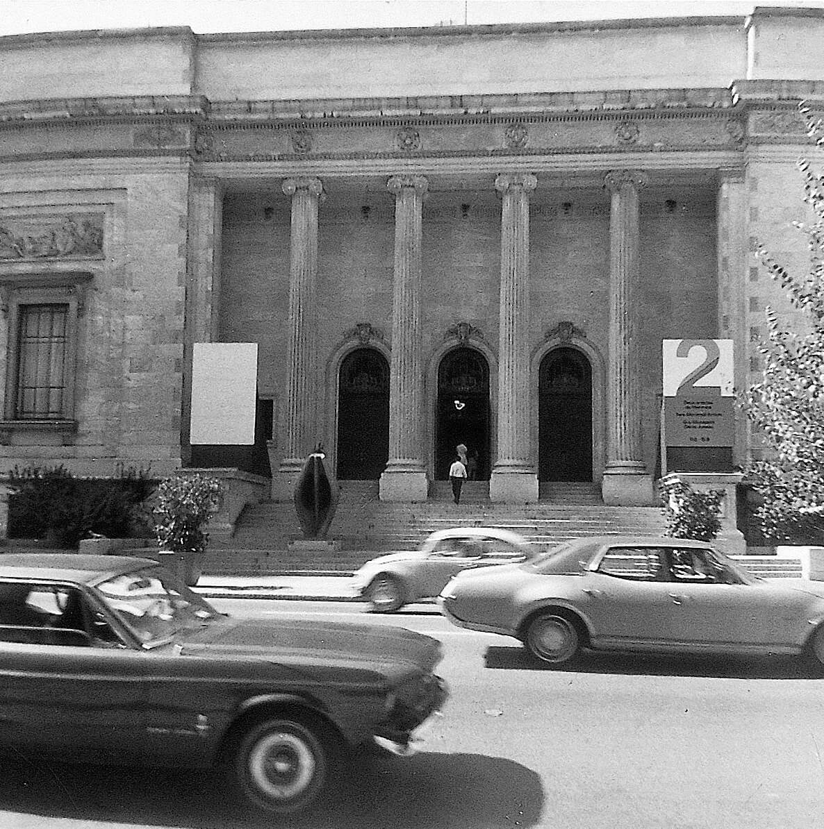 Walk between the Museum of Contemporary Art and the Museum of Fine Arts, 1970