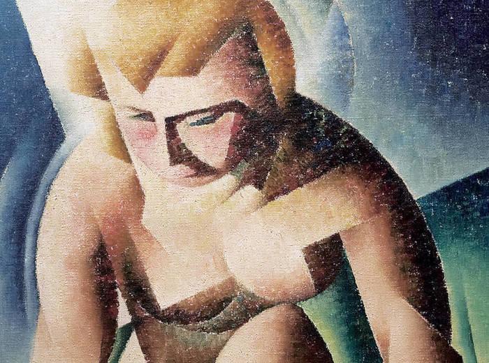 Bertram Brooker, Kneeling Figure, 1940
