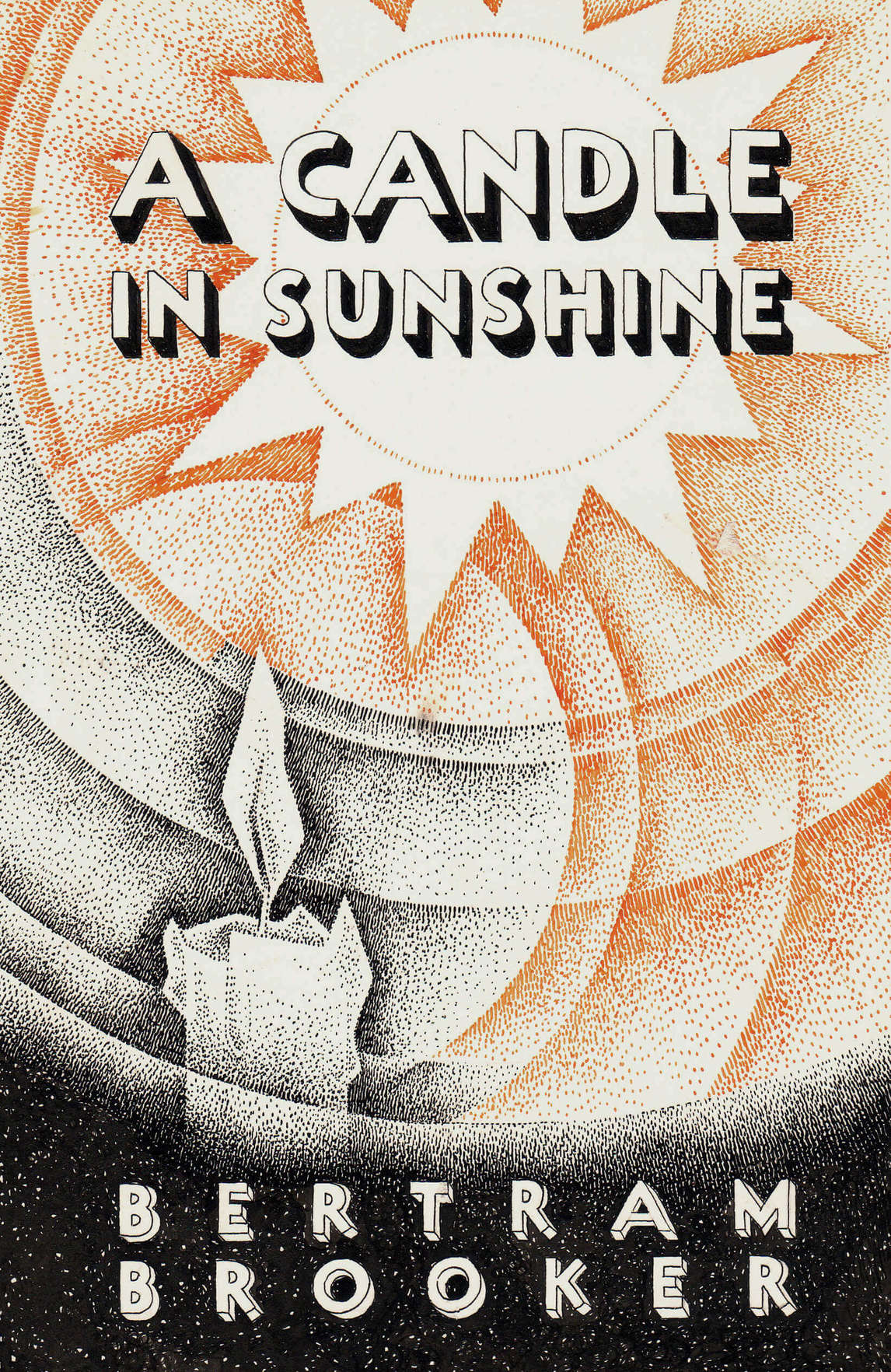 Bertram Brooker, page couverture de « A Candle in Sunshine »