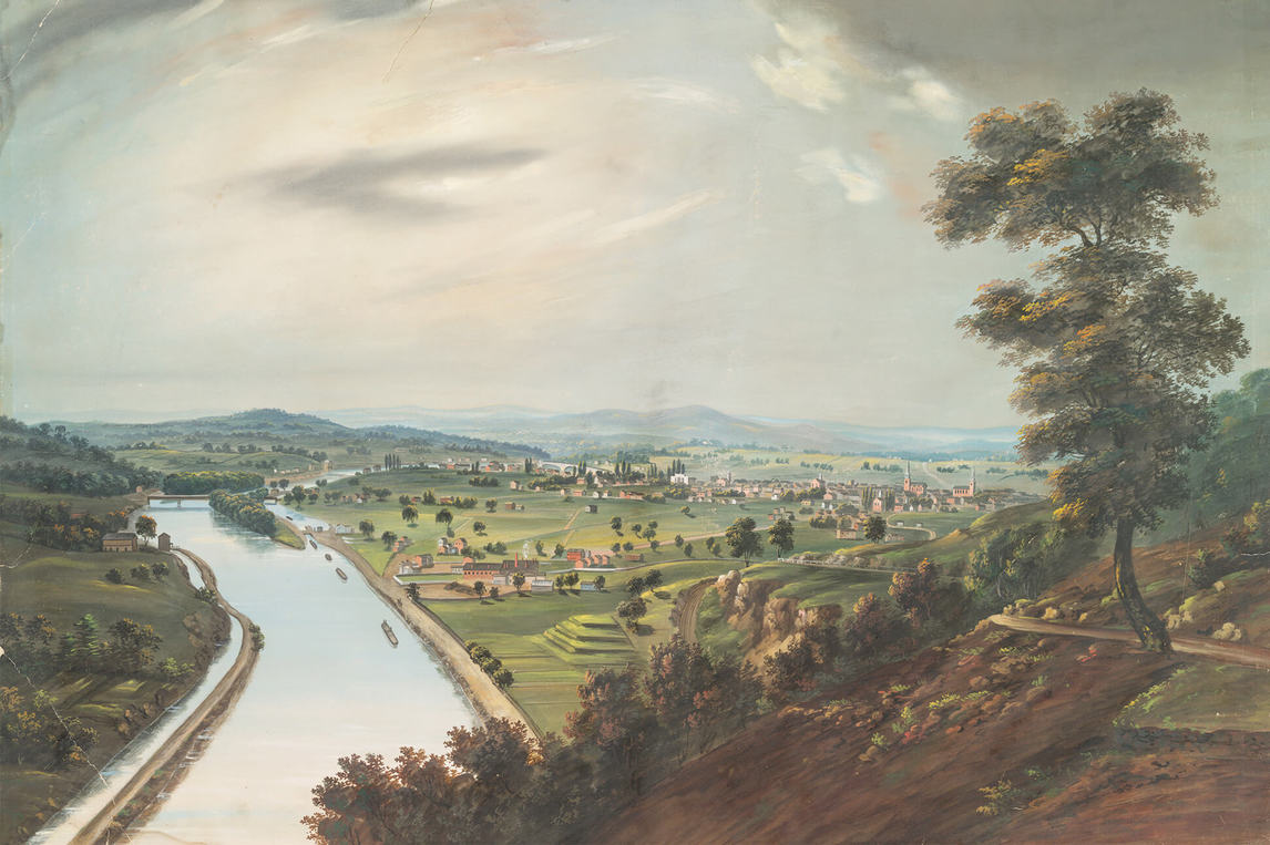 A. Zeno Schindler, View of Reading, Pennsylvania, from the Neversink in the Neighborhood of the White Cottage, 1834