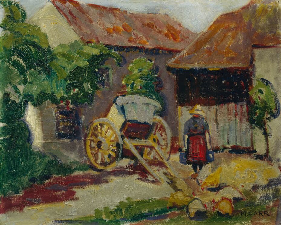 Art Canada Institute, Emily Carr, Breton Farm Yard, c. 1911