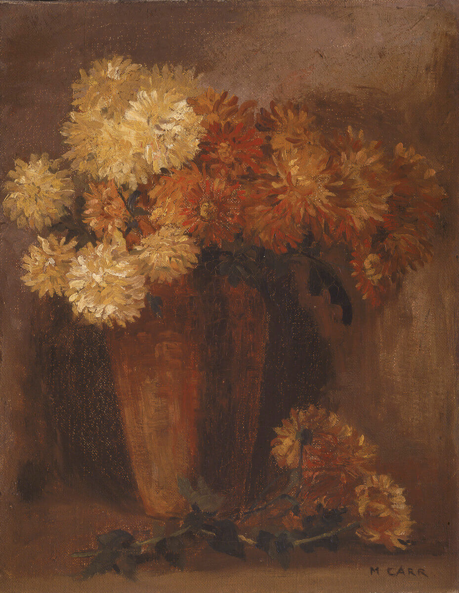 Art Canada Institute, Emily Carr, Chrysanthemums, c. 1900