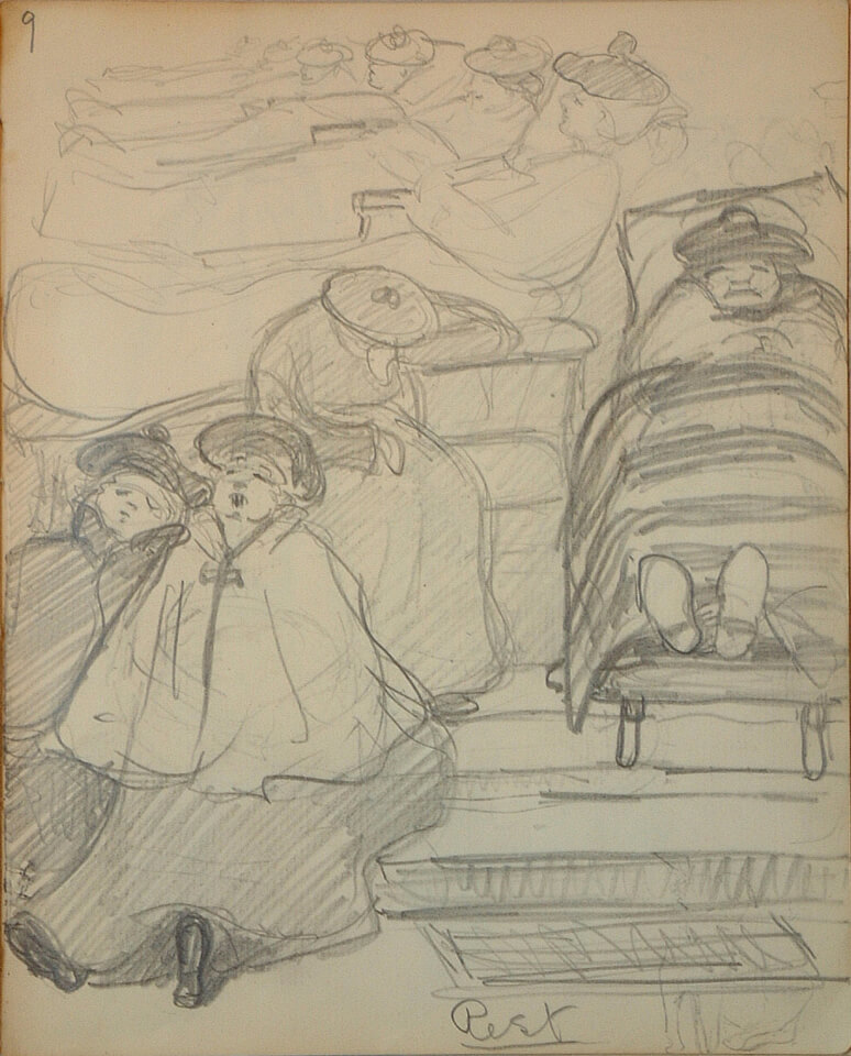 Art Canada Institute, Emily Carr, Sketchbook for Pause; Rest, page 9, 1903