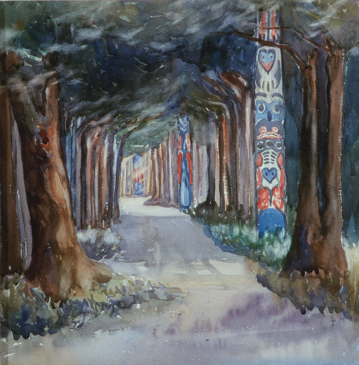 Art Canada Institute, Emily Carr, Totem Walk at Sitka, 1907