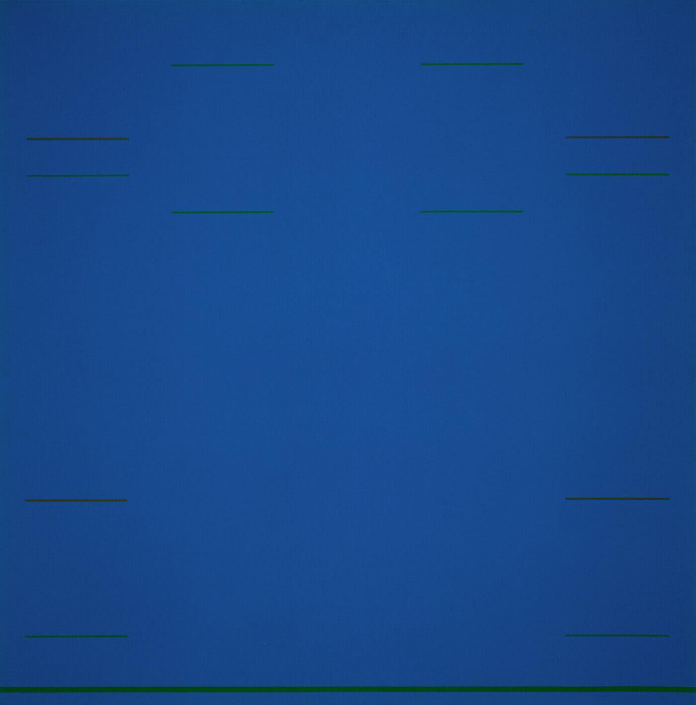 Yves Gaucher,Blue Raga, 1967