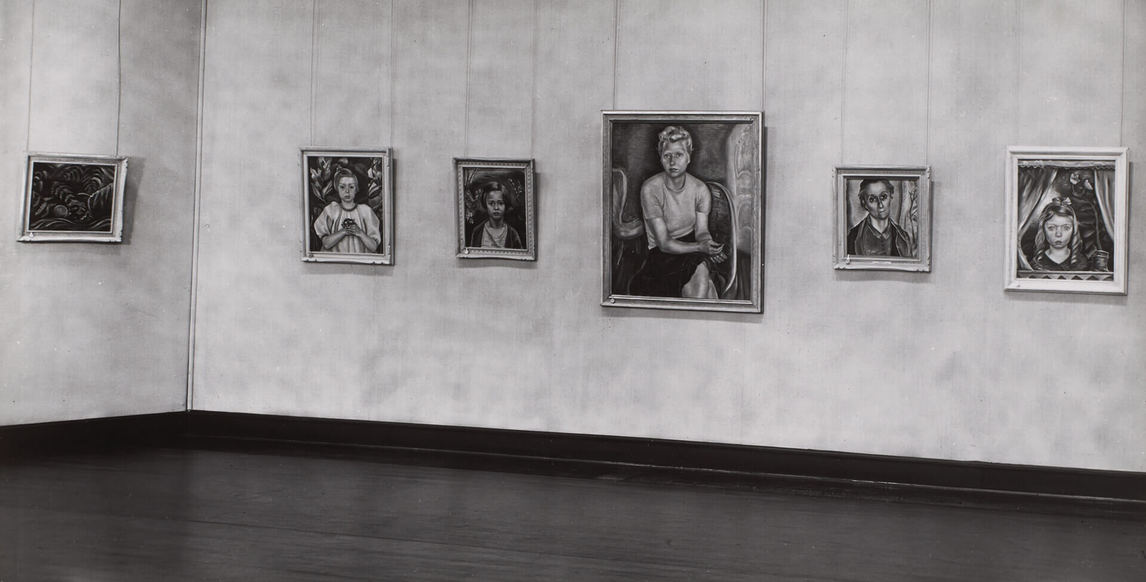 Art Canada Institute, Installation view of the memorial exhibition of Heward's paintings organized by the National Gallery in 1948