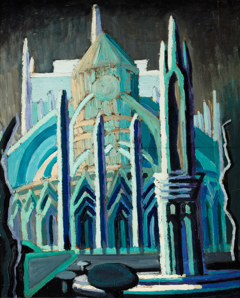 Art Canada Institute, Isabel McLaughlin, Study for l'Abside de Notre Dame, 1929