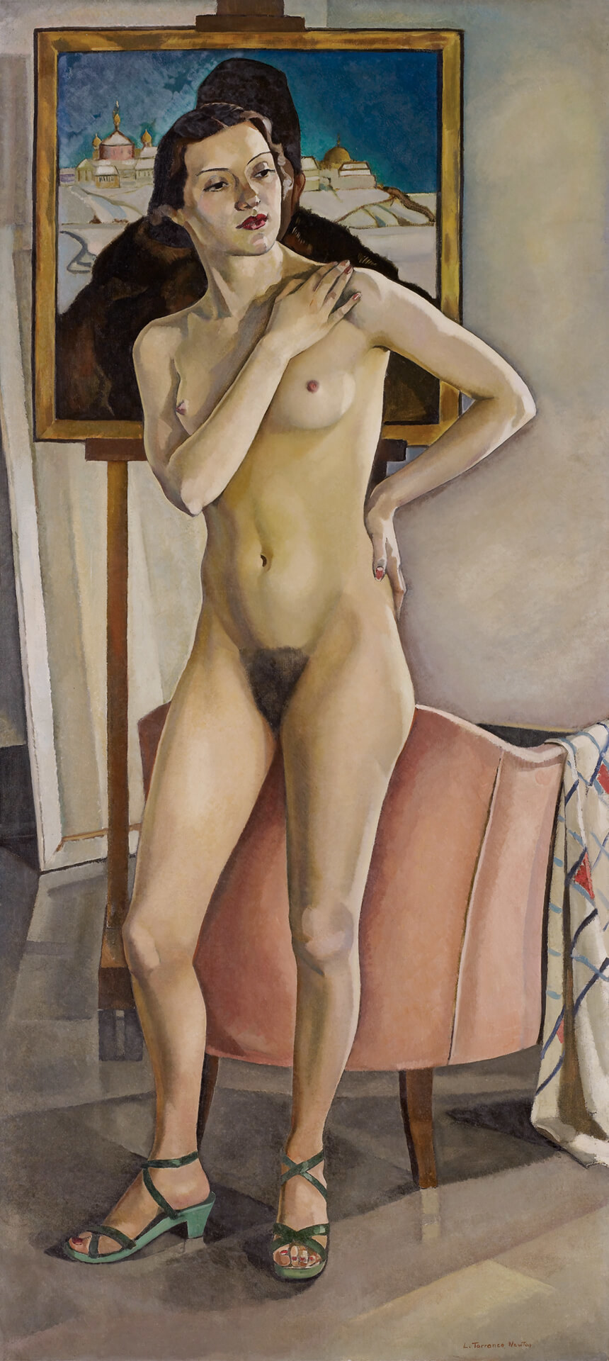 Art Canada Institute, Lilias Torrance Newton, Nude in the Studio, 1933