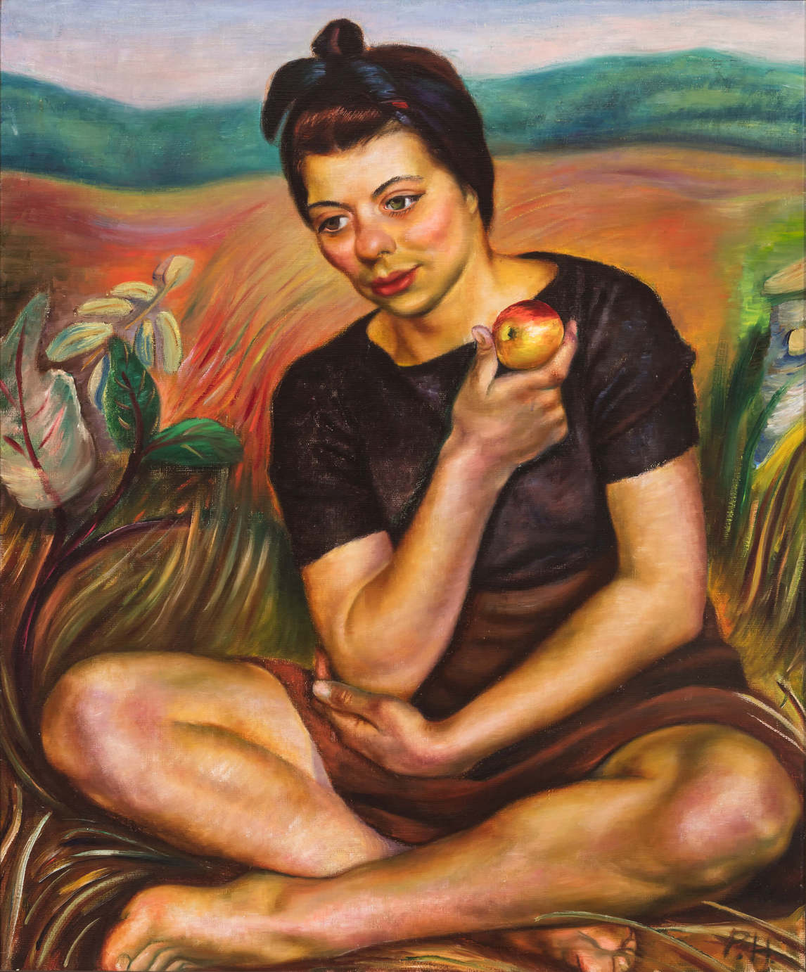 Art Canada Institute, Prudence Heward, Autumn (Girl with an Apple), 1942
