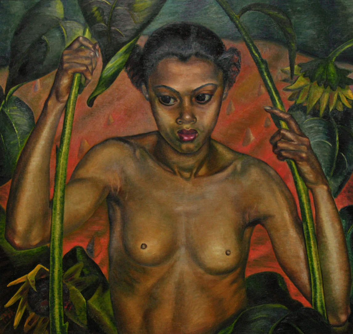 Art Canada Institute, Prudence Heward, Negress with Sunflowers, c. 1936