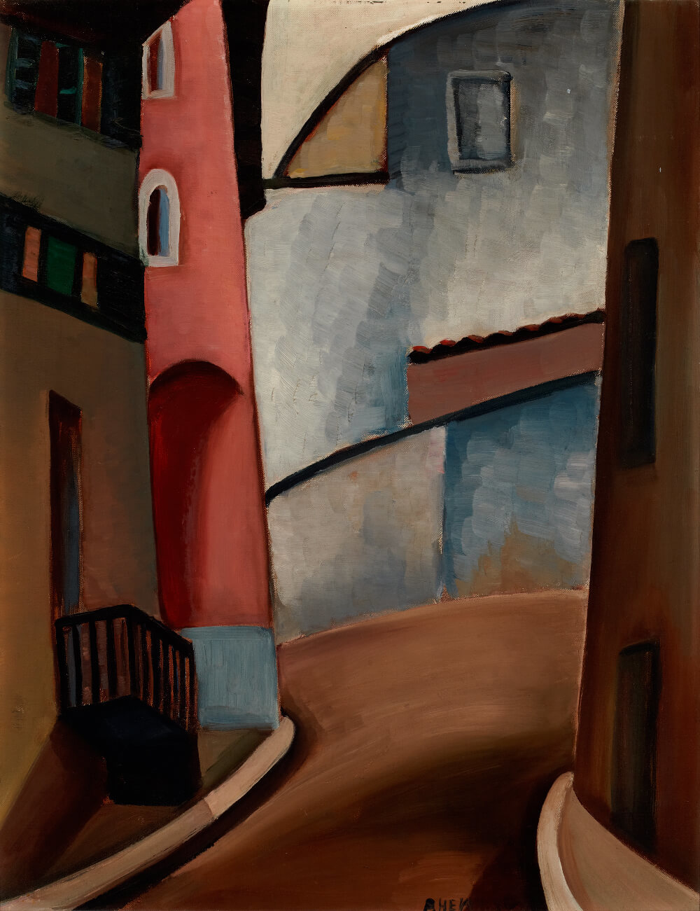 Art Canada Institute, Prudence Heward, Street in Cagnes, c. 1930