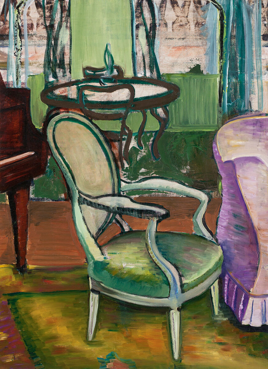 Art Canada Institute, Prudence Heward, Study of the Drawing Room of the Artist, c. 1940