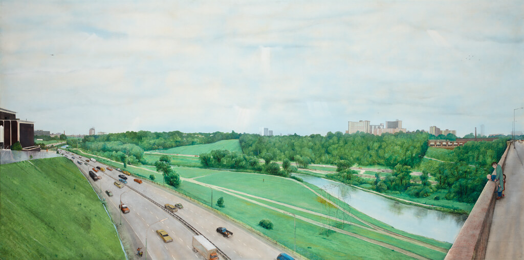 Art Canada Institute, William Kurelek, Don Valley on a Grey Day, 1972