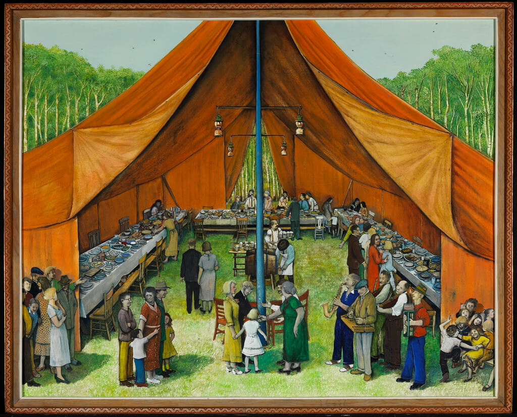 Art Canada Institute, William Kurelek, Manitoba Party, 1964