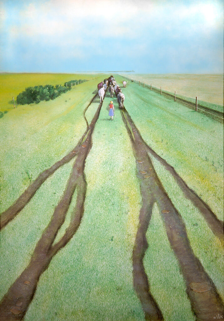 Art Canada Institute, William Kurelek, No Grass Grows on the Beaten Path, 1975