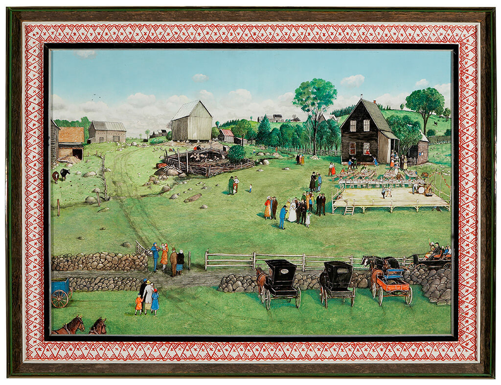 Art Canada Institute, William Kurelek,  Polish Wedding at Kaszuby, 1977