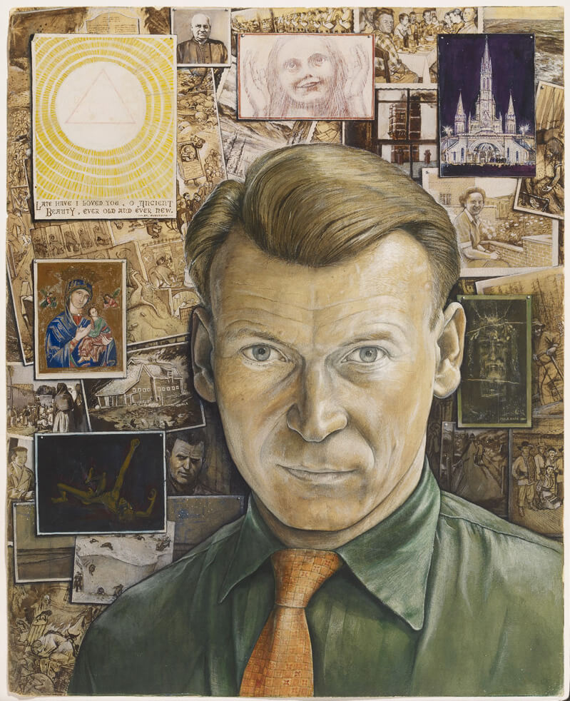 William Kurelek, Autoportrait, 1957
