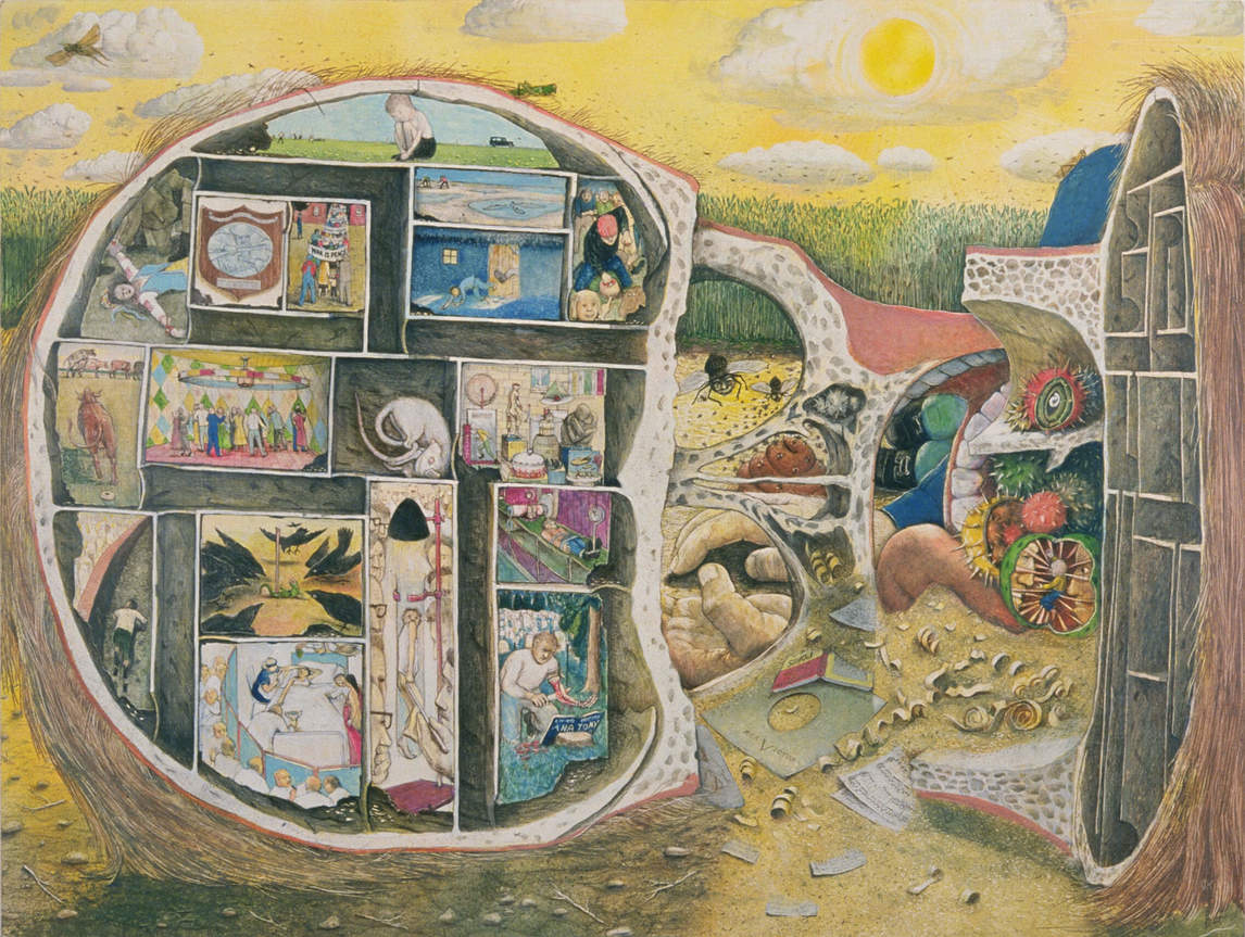 Art Canada Institute, William Kurelek, The Maas Maze, 1971
