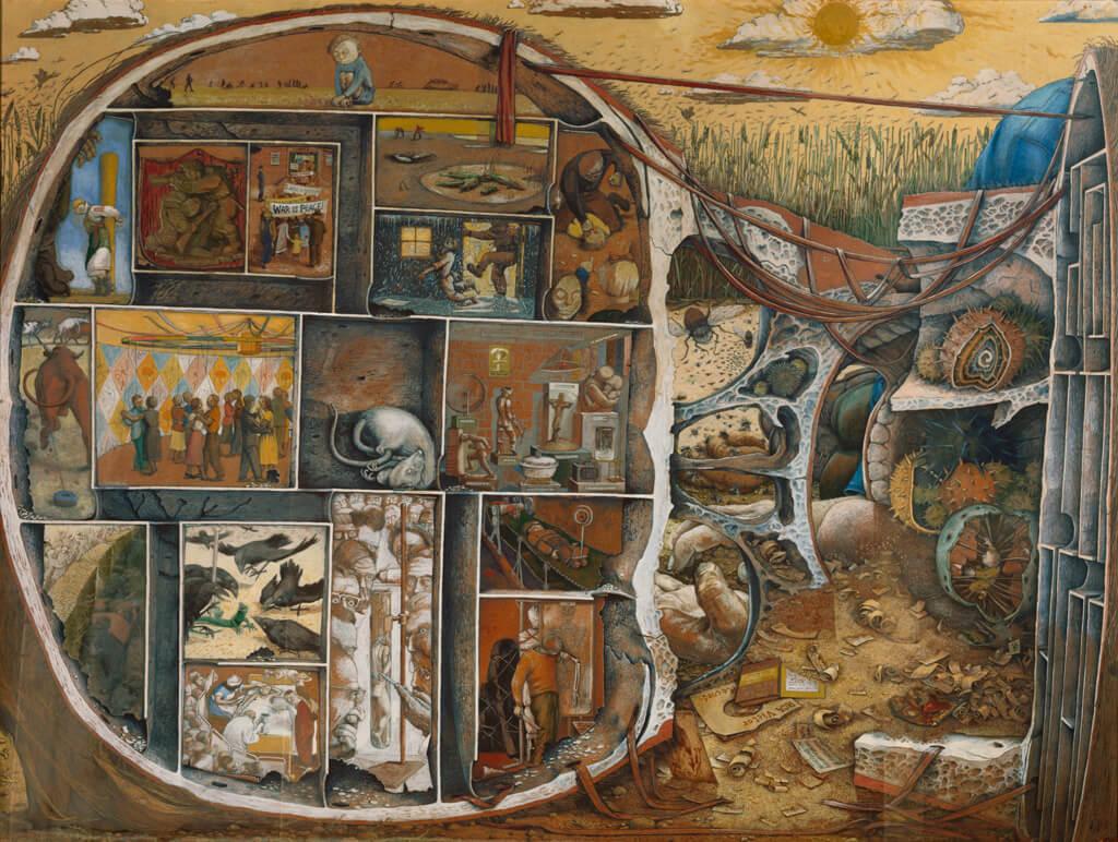 William Kurelek,Le labyrinthe, 1953