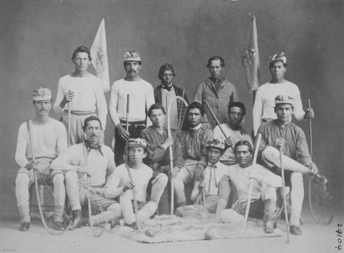 William Notman, St. Regis Lacrosse Club, 1867