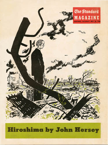 Oscar Cahén, cover illustration for Hiroshima by John Hersey, published in The Standard magazine, September 28, 1946
