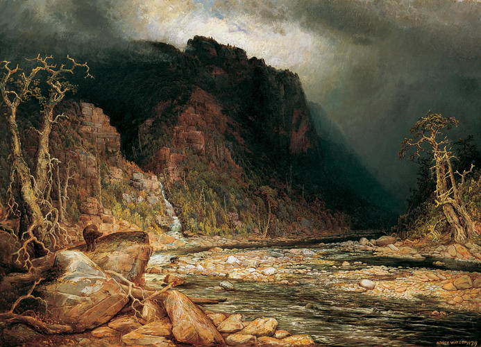 Homer Watson, A Coming Storm in the Adirondacks, 1879
