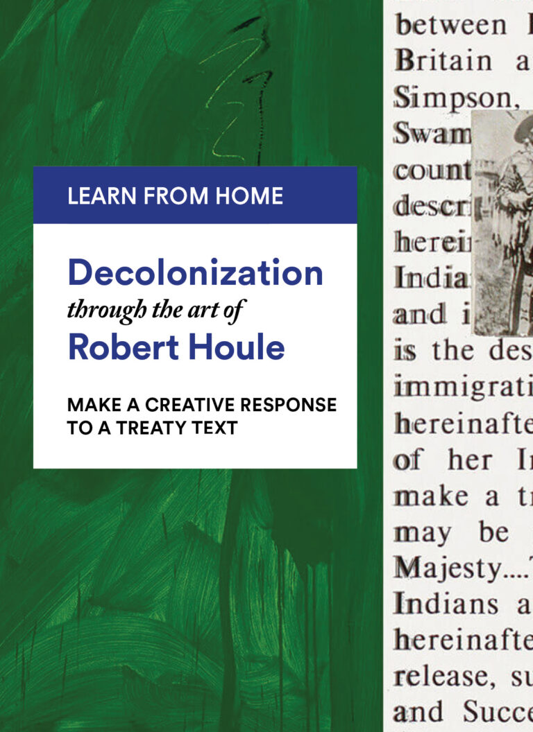 Robert Houle: Make a Creative Response to a Treaty Text