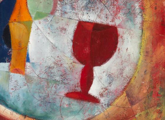 Still Life: Red Goblet