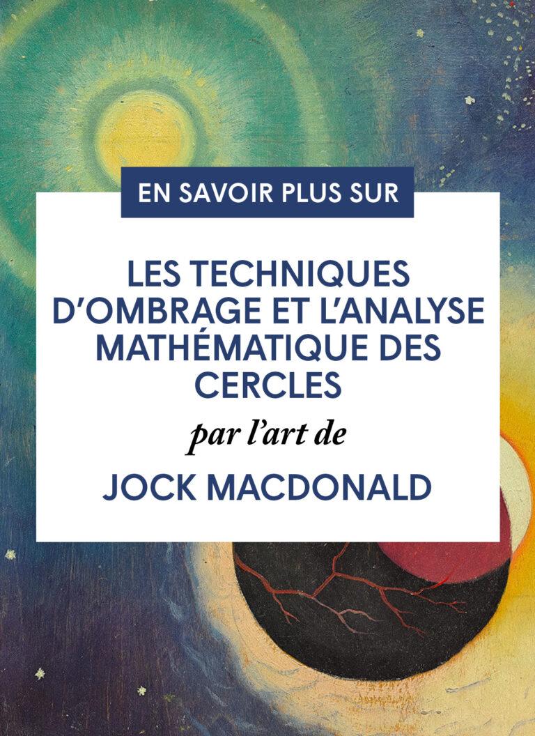 Les techniques d'ombrage et l'analyse mathématique des cercles par l'art de Jock Macdonald