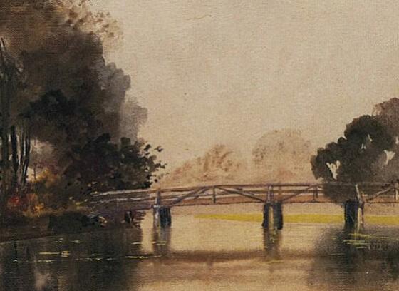 Untitled (Landscape with Bridge)