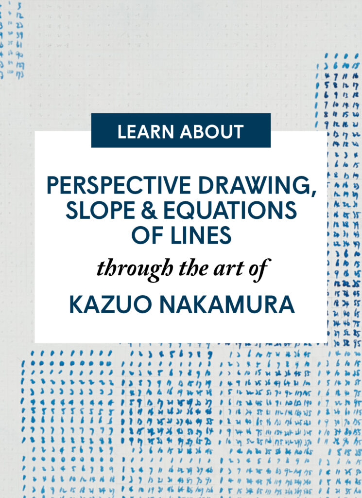Perspective Drawing, Slope, and Equations of Lines through the Art of Kazuo Nakamura