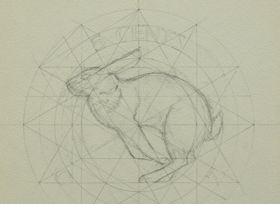 Drawing for 5 cent coin / Centennial Coin, Alex Colville, 5 cents