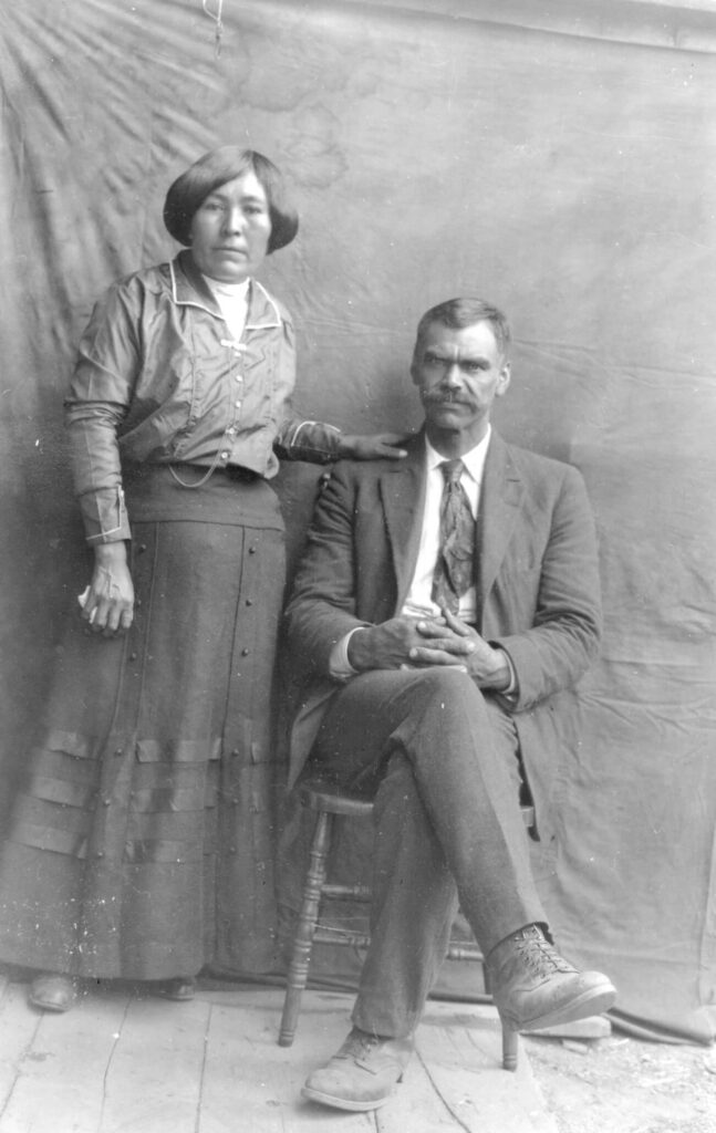 Betsy Adams (née Duchamp) and George P. Adams